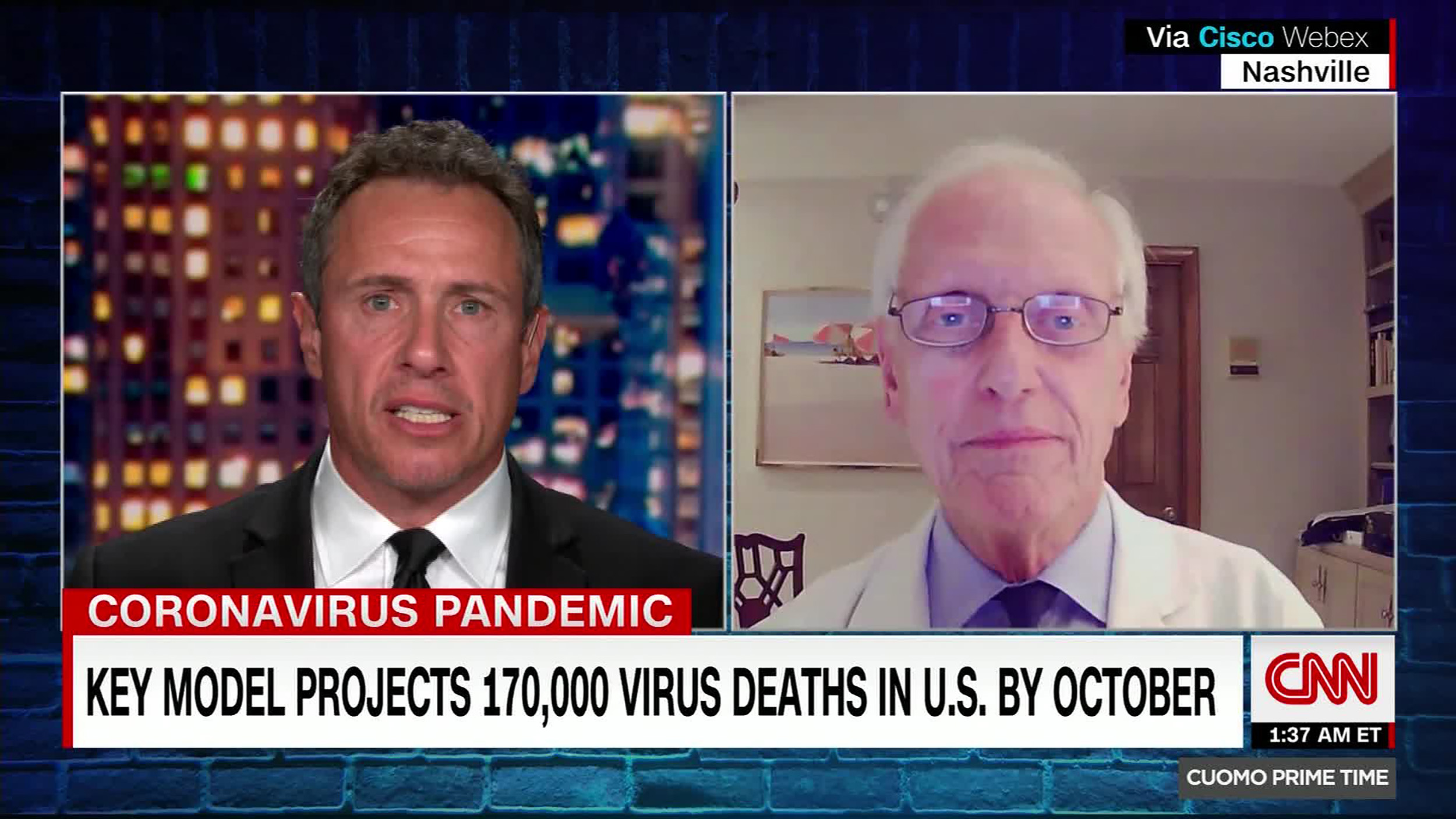 From left: CNN's Chris Cuomo and Dr. William Schaffner
