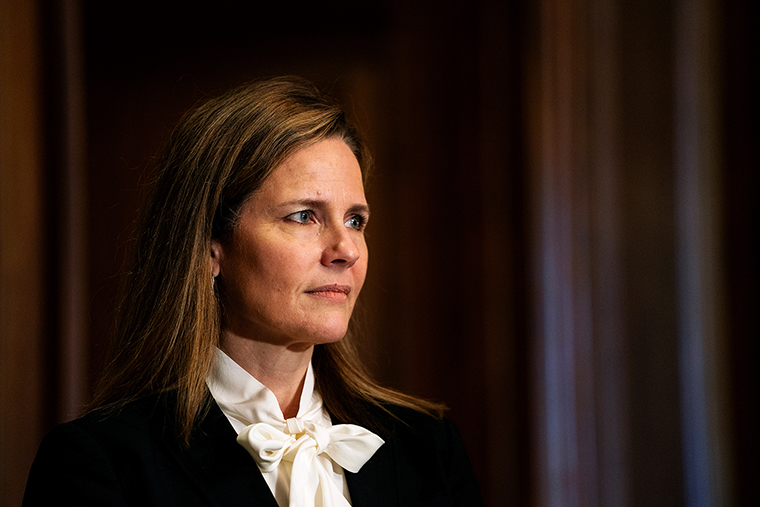 Judge Amy Coney Barrett, President Donald Trumps nominee for the US Supreme Court, on Capitol Hill in Washington, DC, on Oct. 1, 2020.
