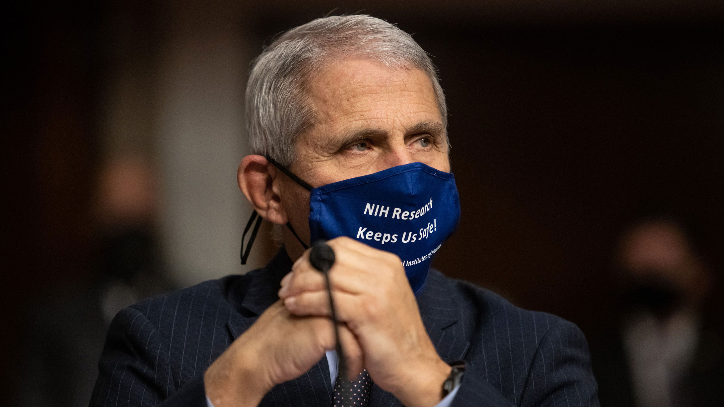 Dr. Anthony Fauci testifies during a Senate committee hearing in September.