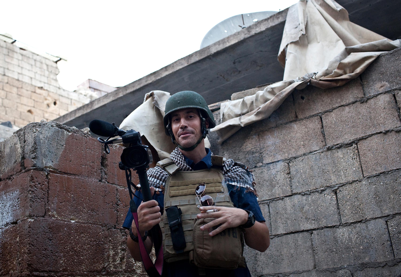 James Foley pictured in November 2012 in Aleppo.