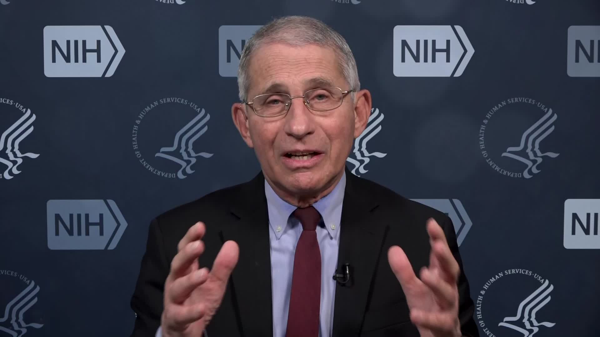 Dr. Anthony Fauci, the nation's leading infectious disease expert, speaks during an interview on December 29.