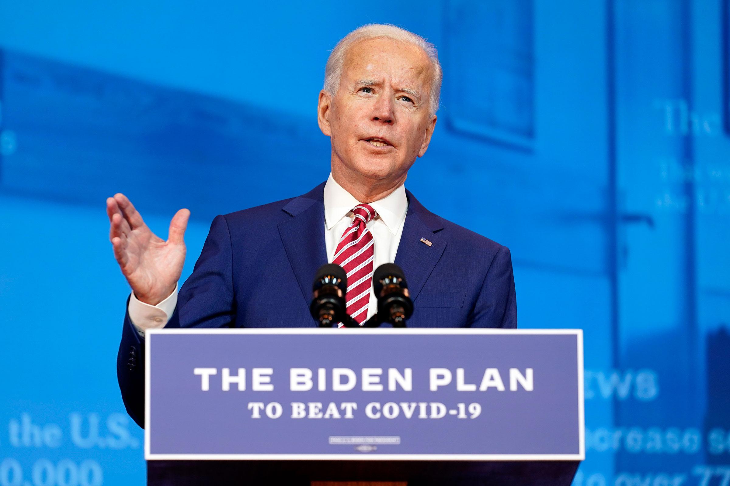Joe Biden speaks on Friday, October 23 in Wilmington, Delaware.