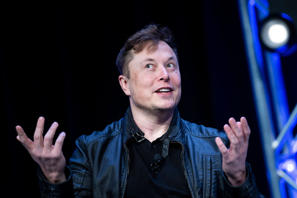 Elon Musk, founder of SpaceX, speaks at the Washington Convention Center on March 9 in Washington, DC.