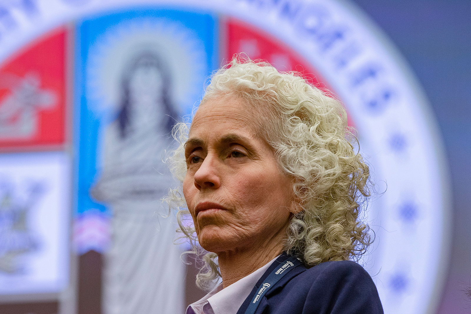 In this file photo, Los Angeles County Public Health Director Barbara Ferrer takes questions at a news conference in Los Angeles, on March, 12.
