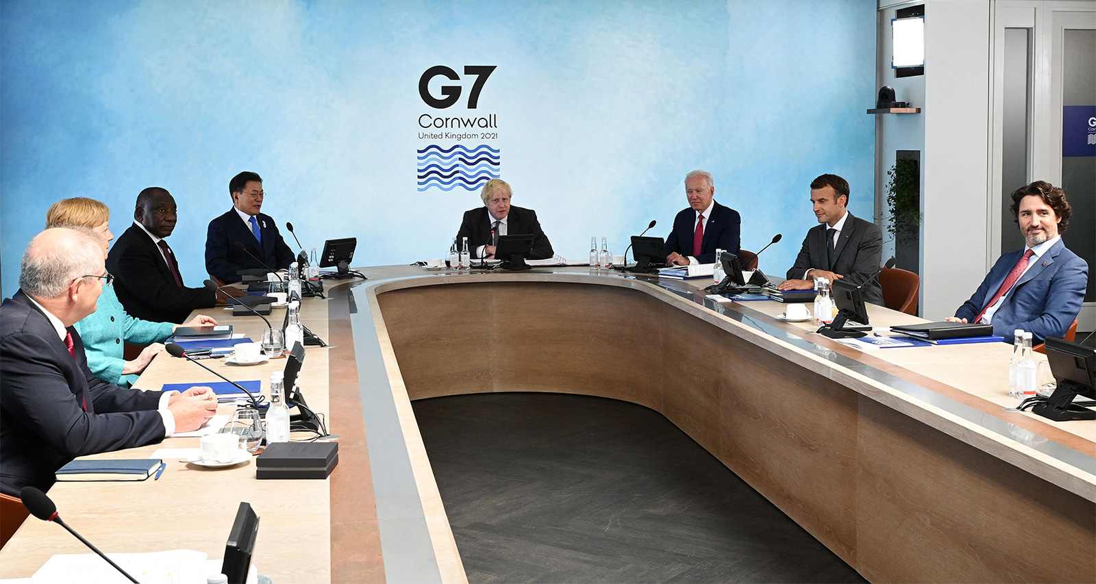 World leaders meet at the G7 summit in Carbis Bay, Cornwall on June 12.