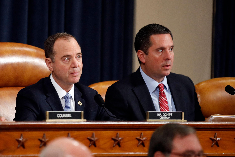 Rep. Adam Schiff, left, and Rep. Devin Nunes