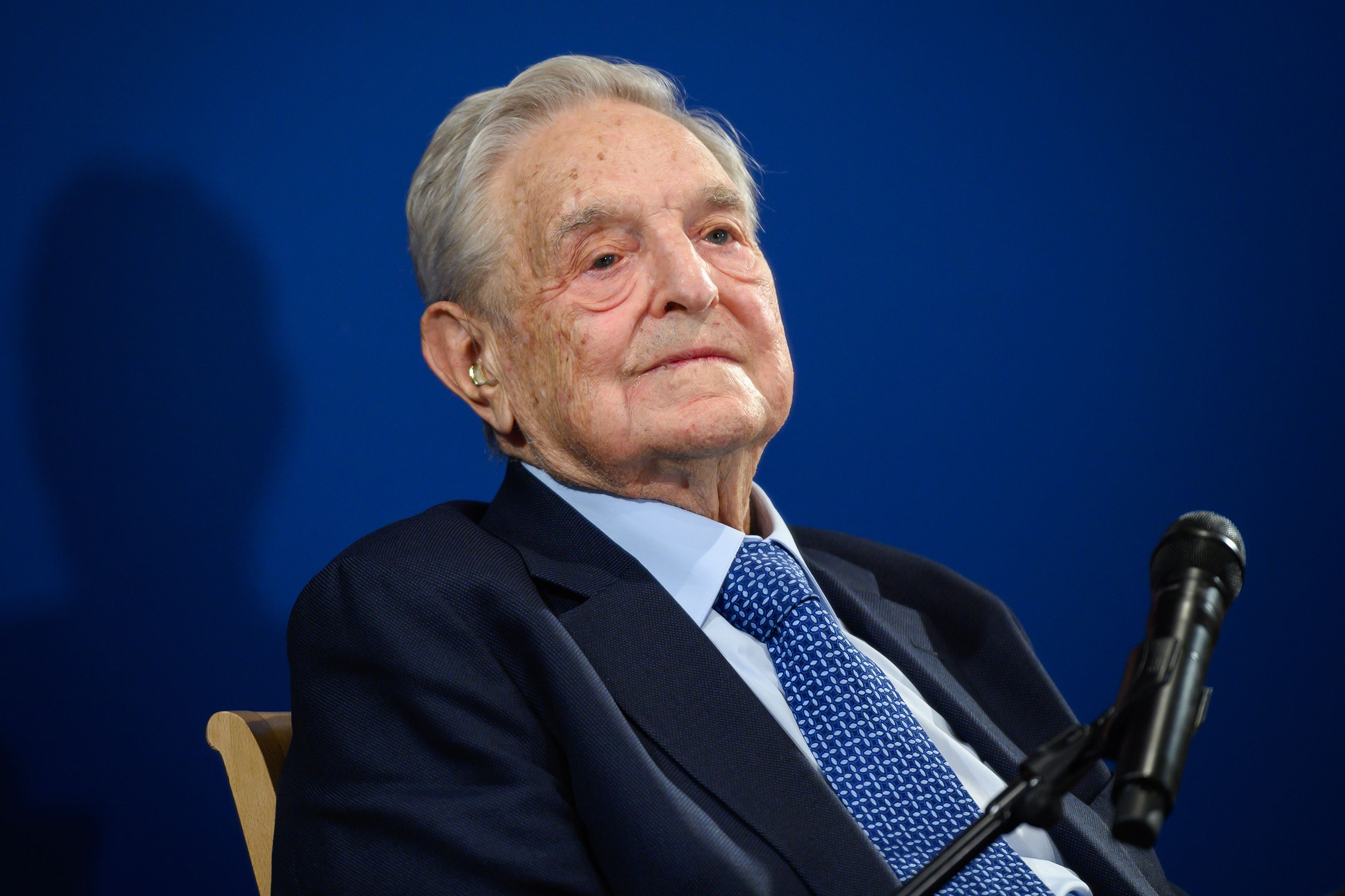 George Soros at the World Economic Forum annual meeting in Davos, Switzerland, on January 23.