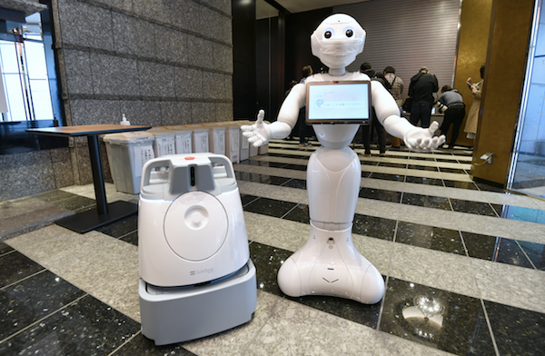 The Pepper and Whizz robots will work alongside staff in hotels accommodating coronavirus patients with mild symptoms.