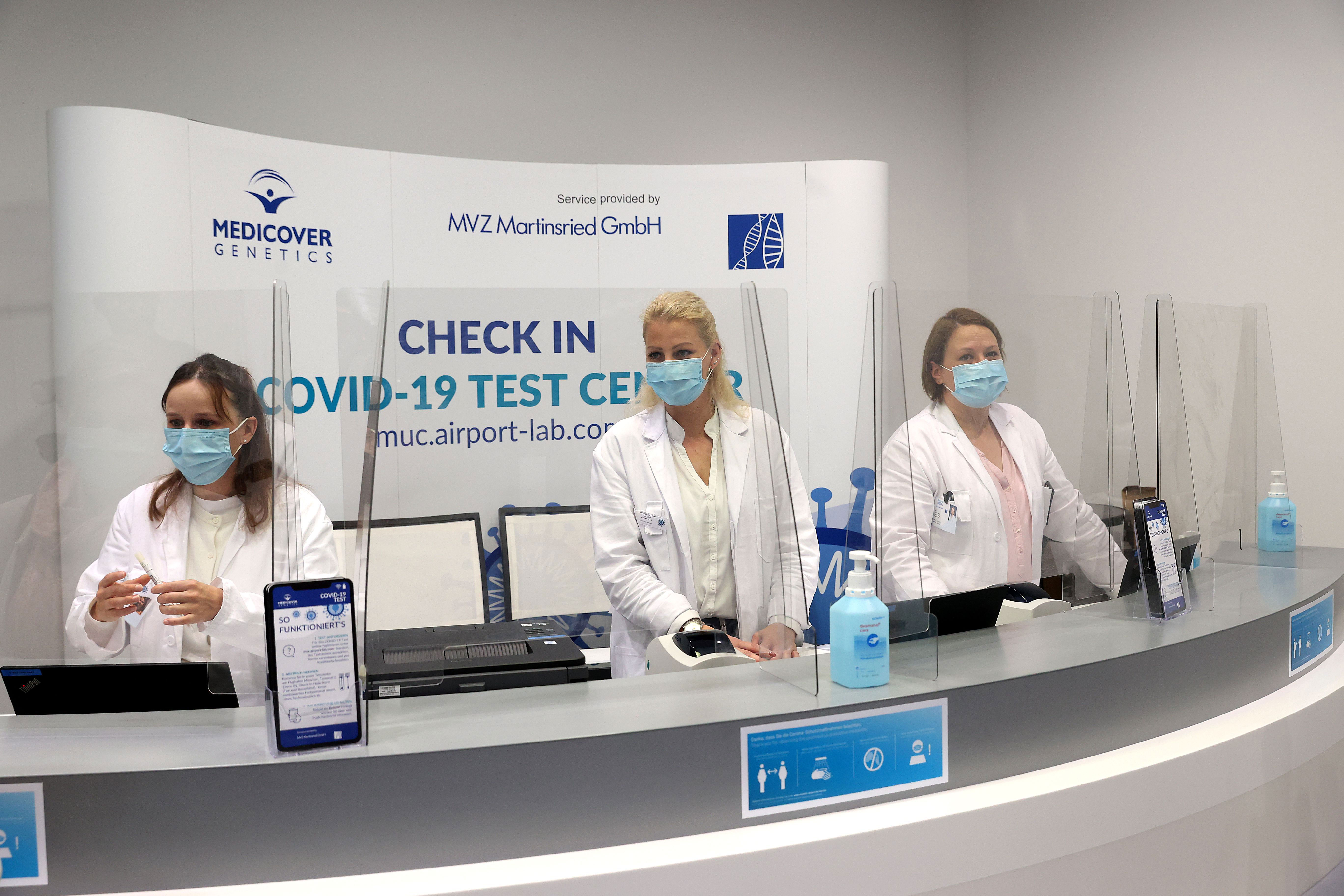Staff at the Test to Fly Center in Germany
