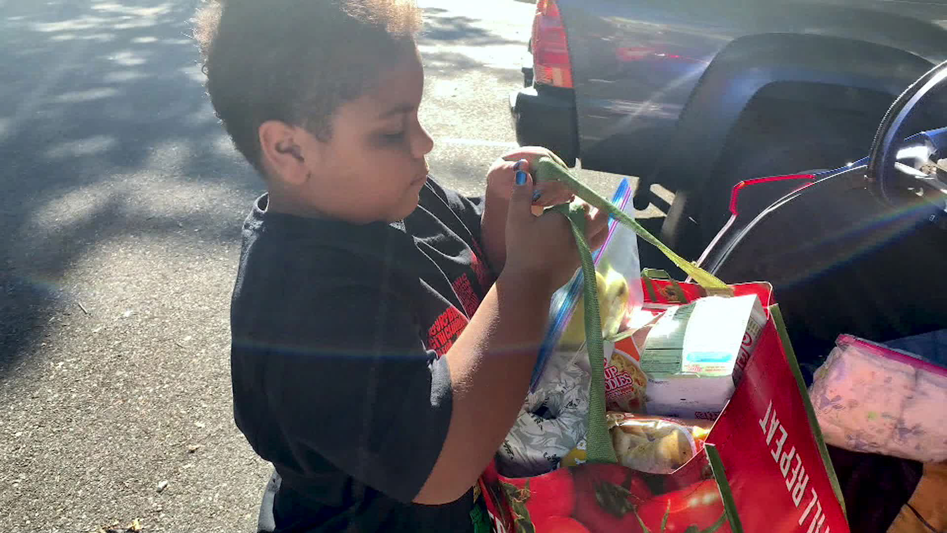 Cavanaugh Bell, 8, started a food pantry in his neighborhood.
