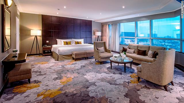 Inside the Melia's spacious Presidential Suite at the top of the hotel.