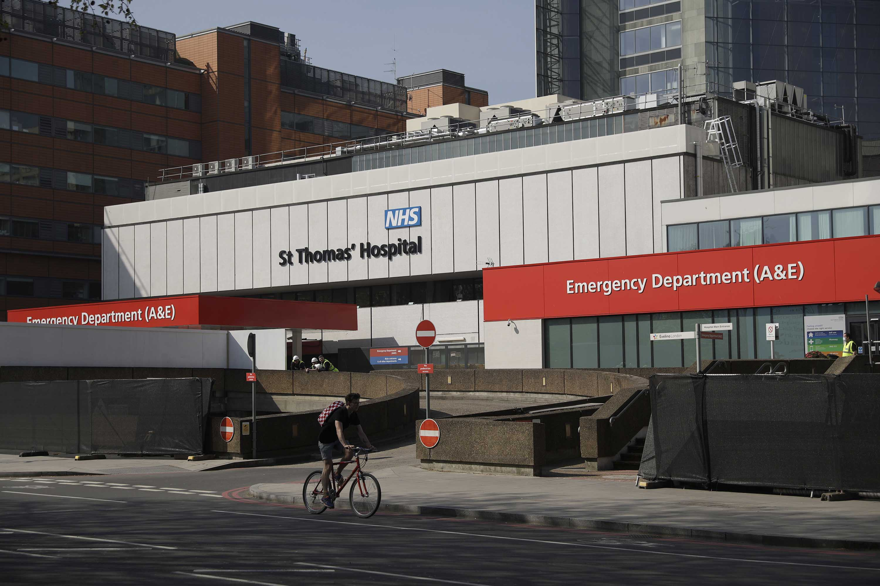 St Thomas' Hospital in London, where British Prime Minister Boris Johnson is being treated for coronavirus, is pictured on April 10.