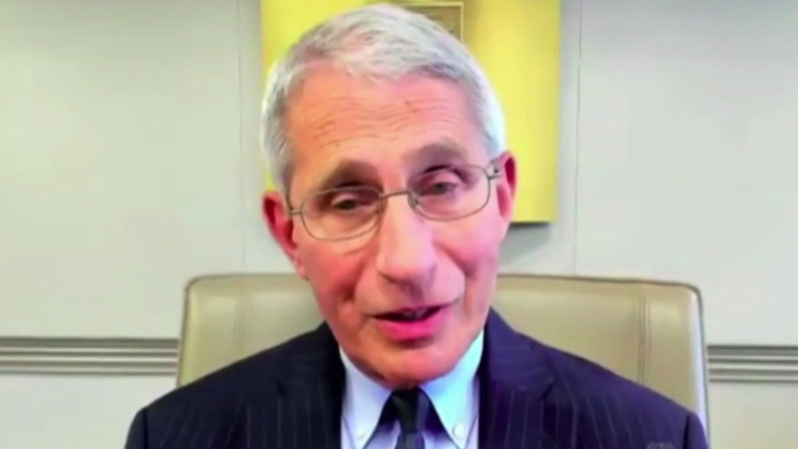 Dr. Anthony Fauci speaks during a Georgetown University Global Health Initiative webinar on Tuesday.