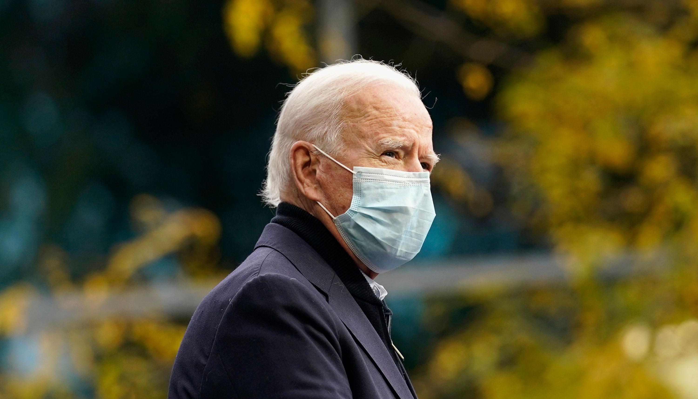 Joe Biden speaks from Grand Rapids, Michigan, on October 2.