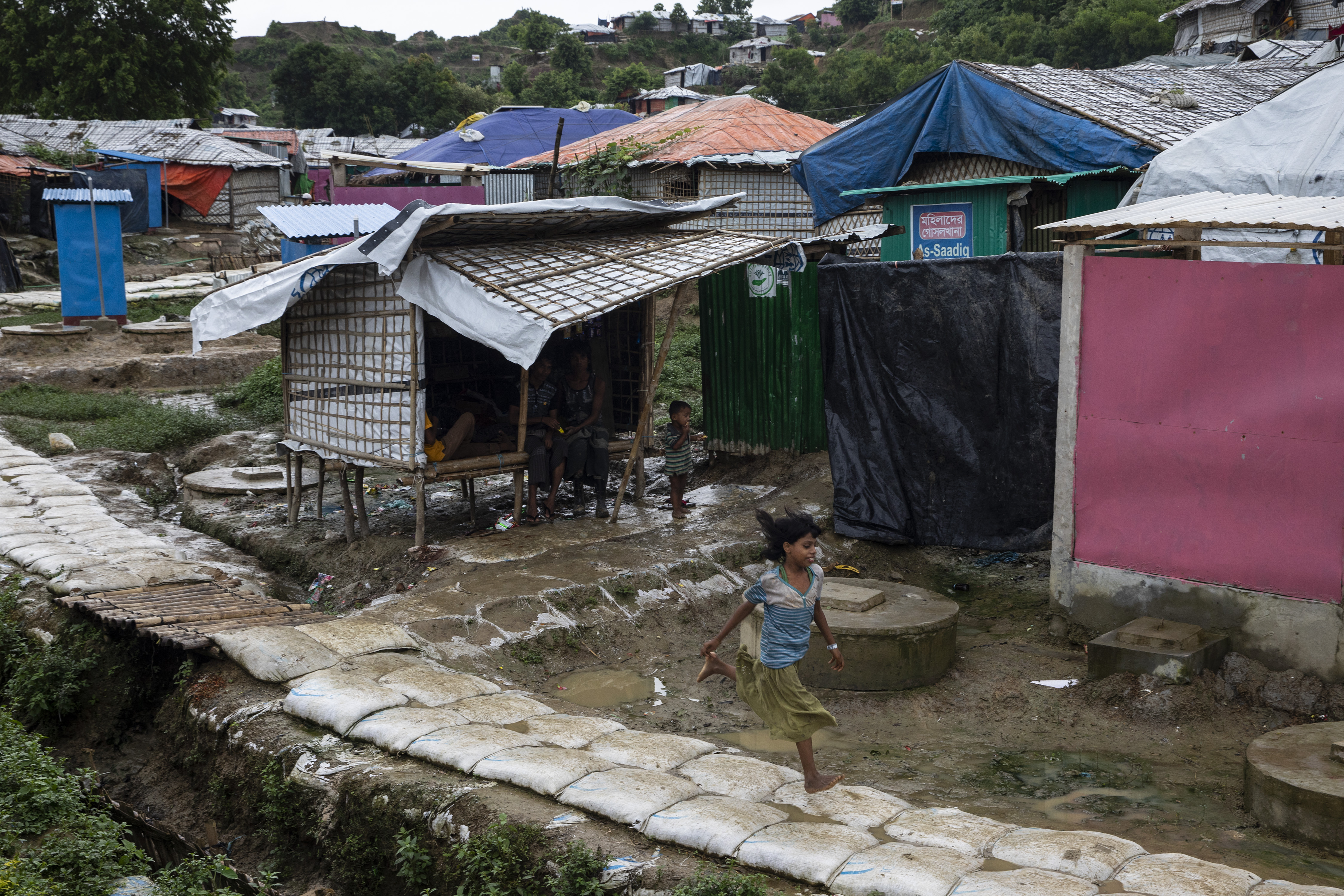 The Rohingya refugee camp in Cox's Bazar, Bangladesh.