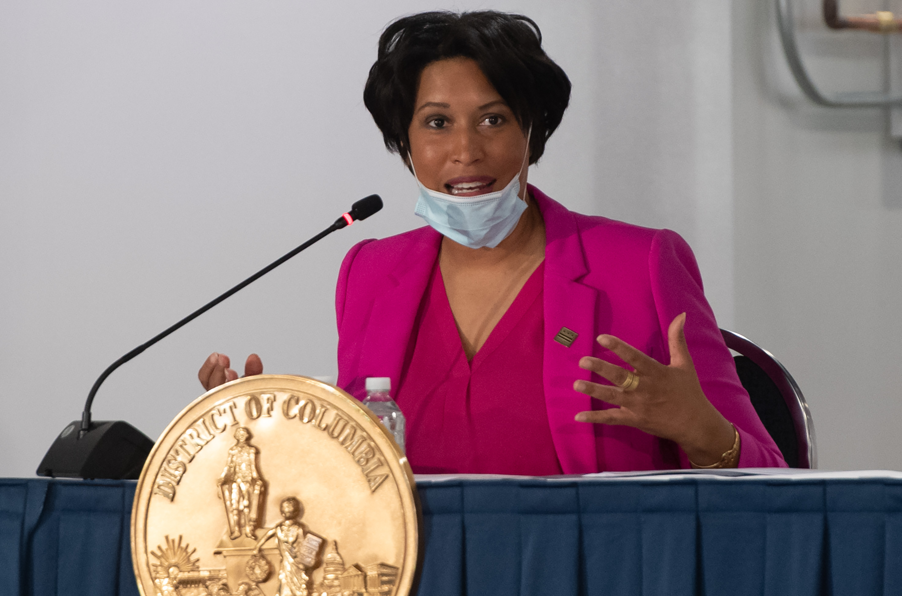 District of Columbia Mayor Muriel Bowser speaks on May 11.