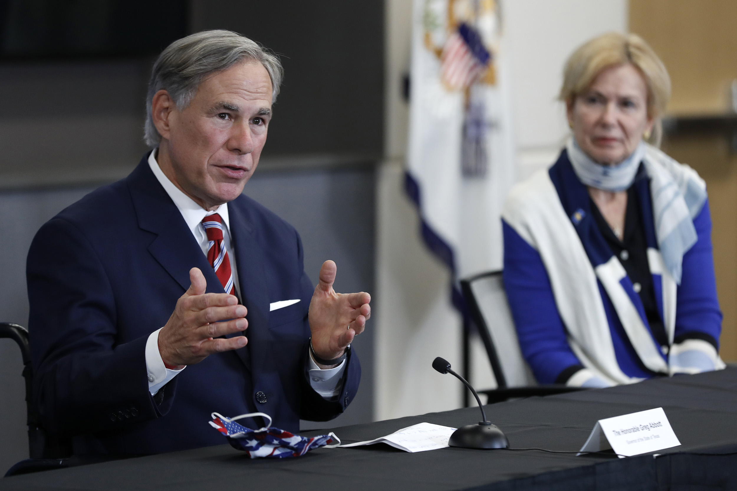 Texas Gov. Greg Abbott and Dr. Deborah Birx, White House coronavirus response coordinator, at the University of Texas Southwestern Medical Center in Dallas, Texas, on June 28.