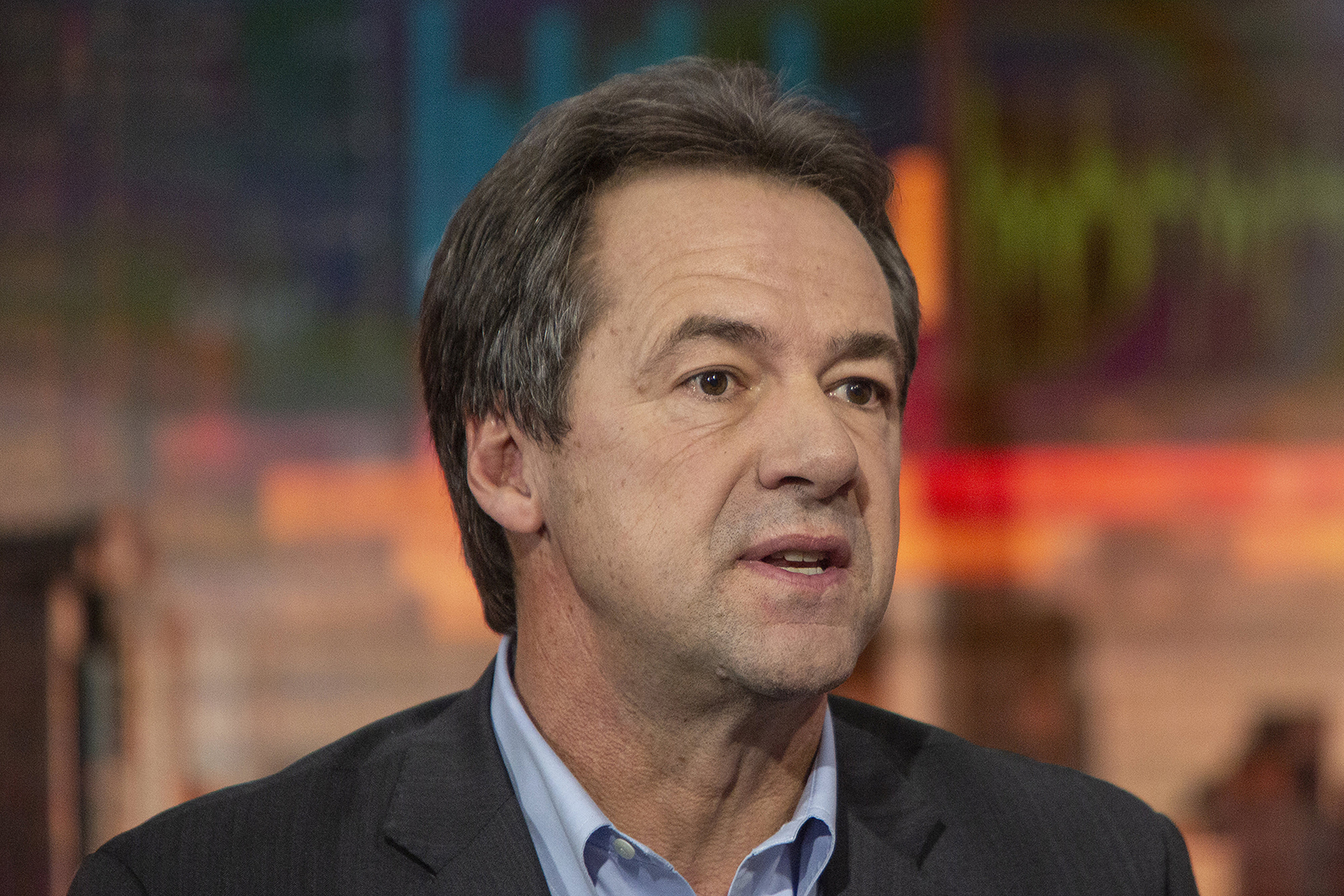 Gov. Steve Bullock of Montana, and then 2020 presidential candidate, speaks during a Bloomberg Television interview in New York, on November 19, 2019.