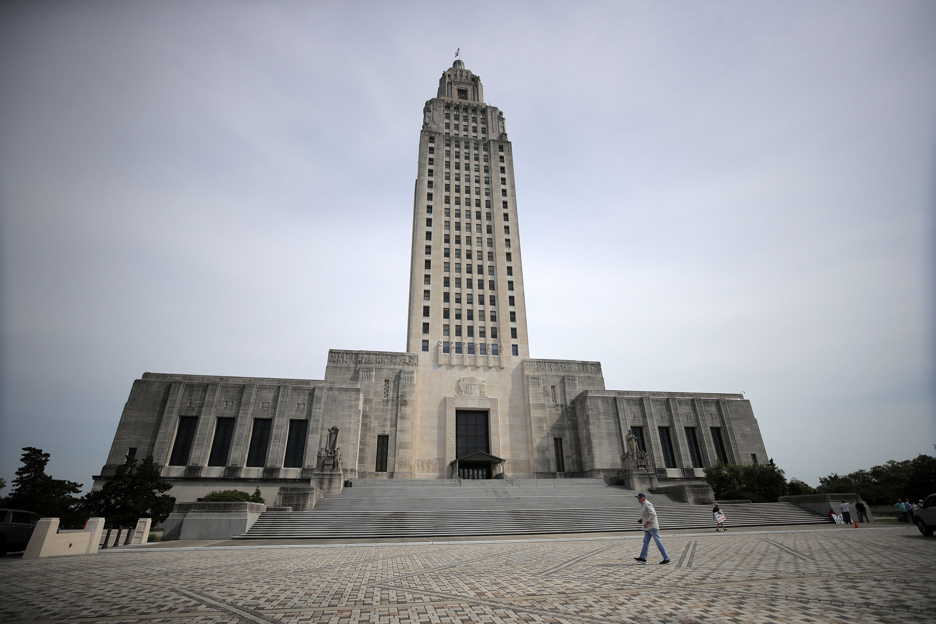 A general view of theLouisiana State Capitol in April 2020.