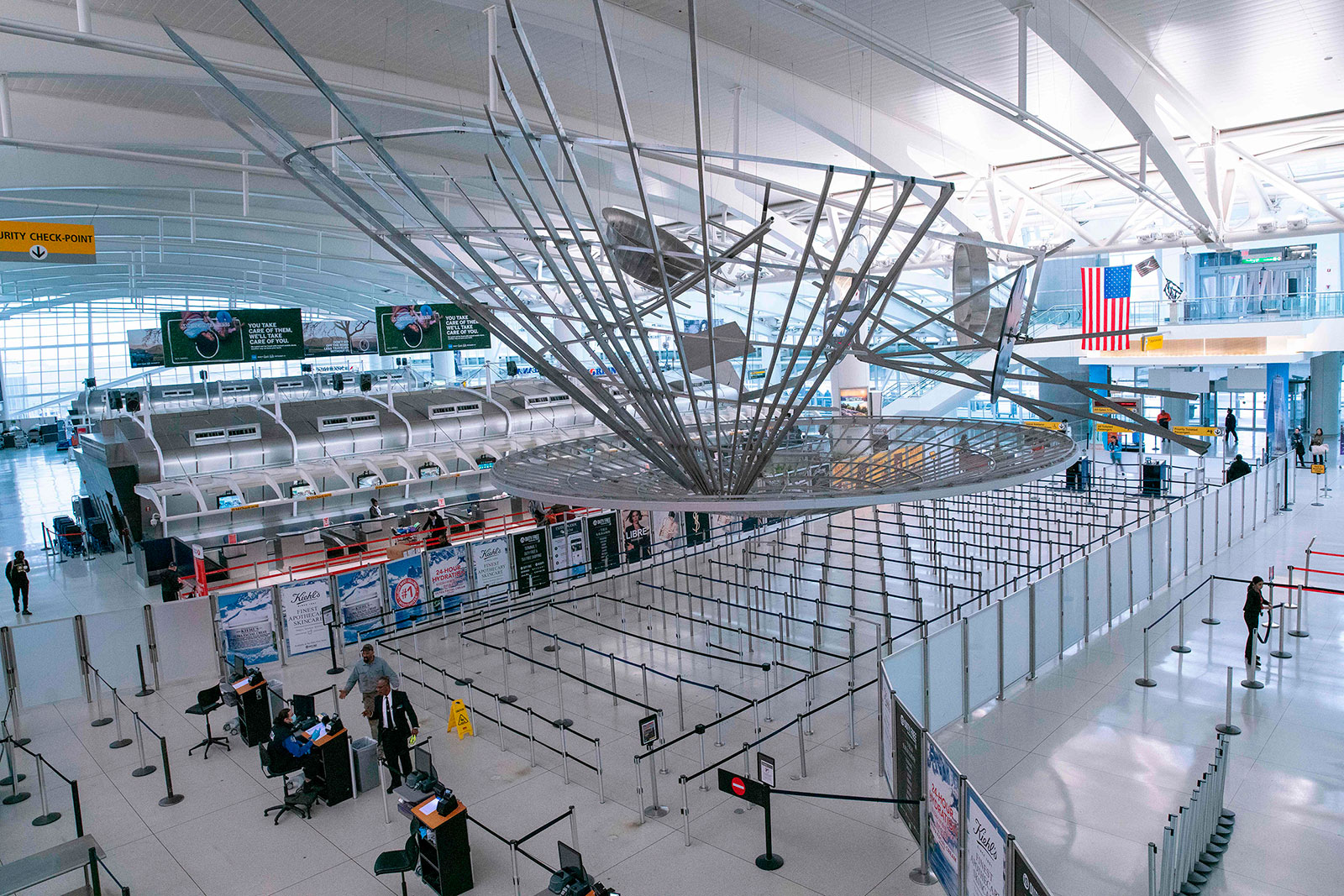 The interior of Terminal 1 at John F. Kennedy International Airport on March 12.