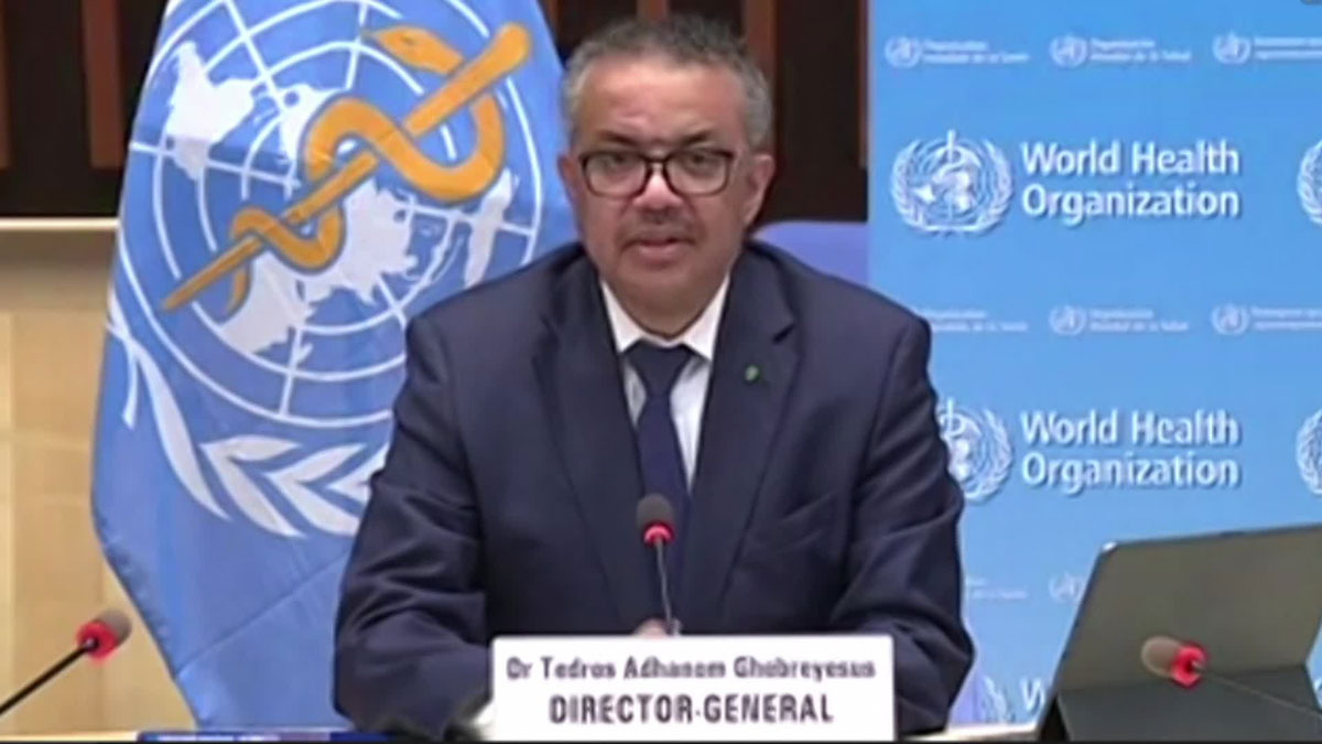 Tedros Adhanom Ghebreyesus, WHO's director general, is in quarantine as a contact of someone who tested positive for Covid-19.