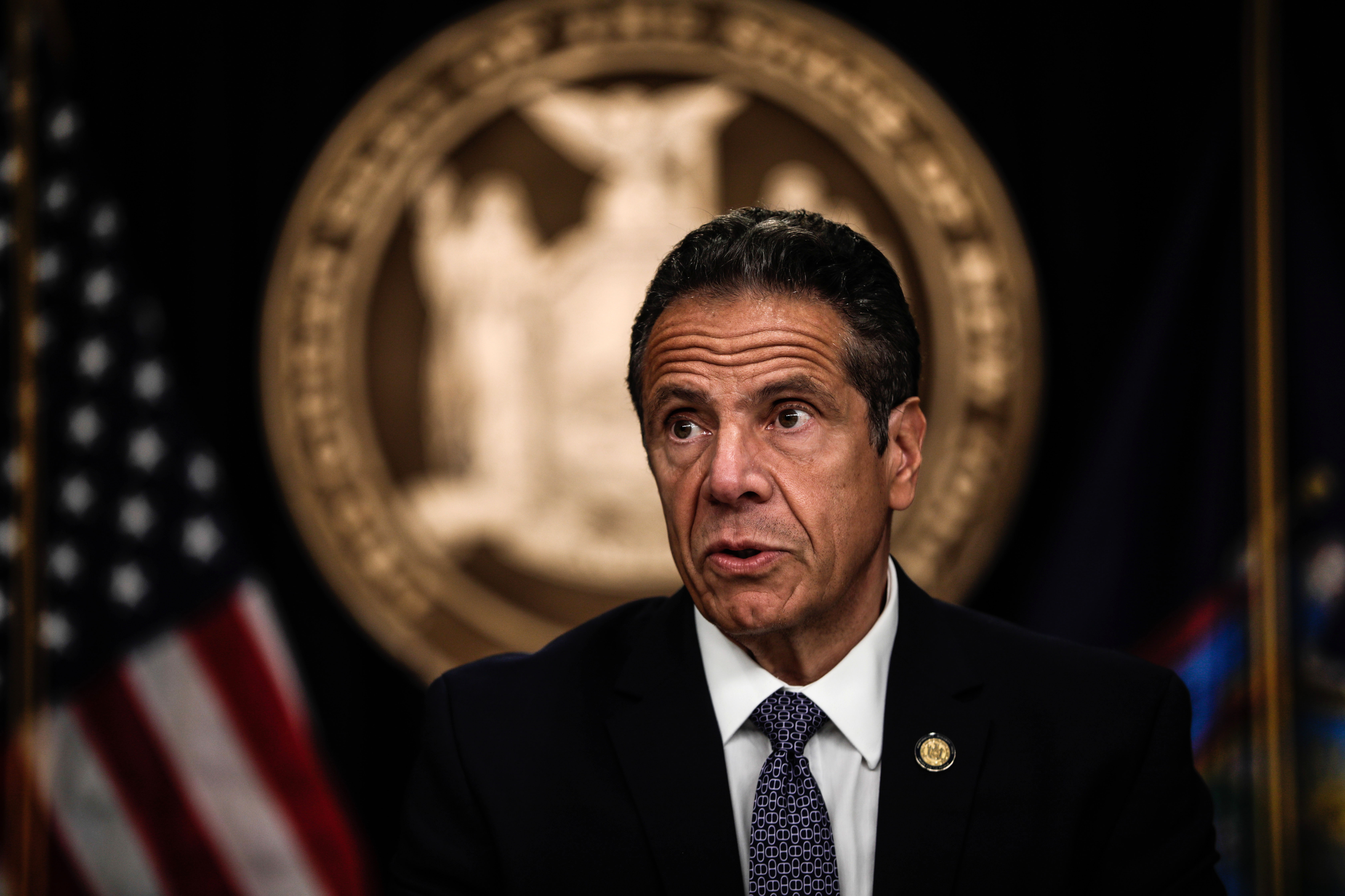 Gov. Andrew Cuomo speaks at a news conference in New York on July 1.