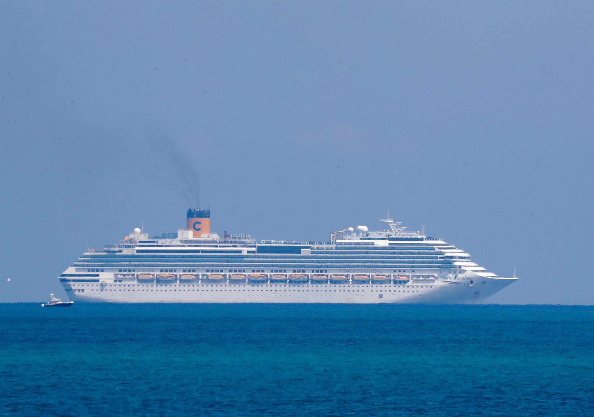 The Costa Cruise ship Favolosa is shown, Thursday, March 26, off the coast of Miami Beach, Florida.