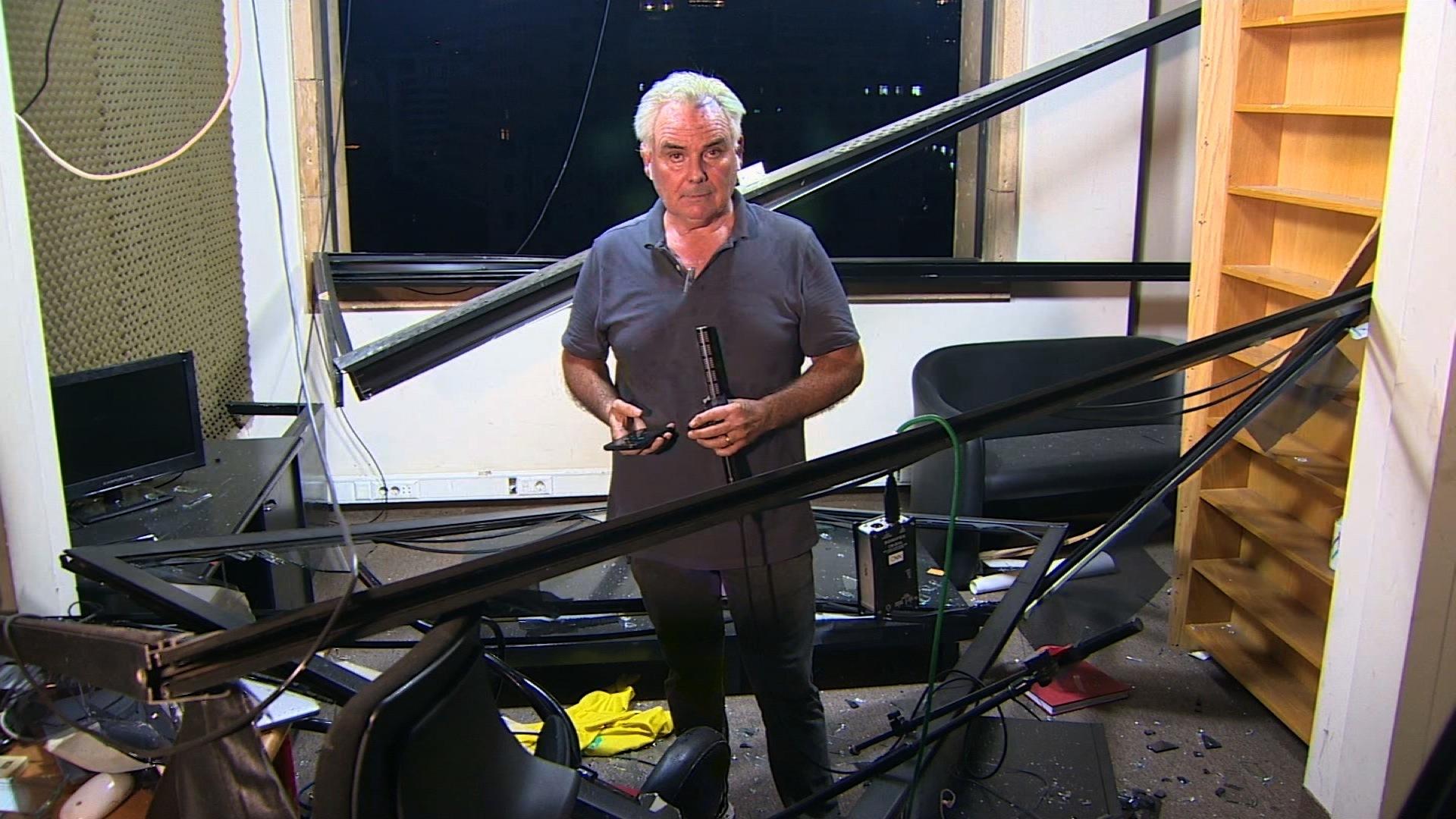 Senior Correspondent Ben Wedeman reports fro CNN's damaged Beirut bureau on Tuesday.