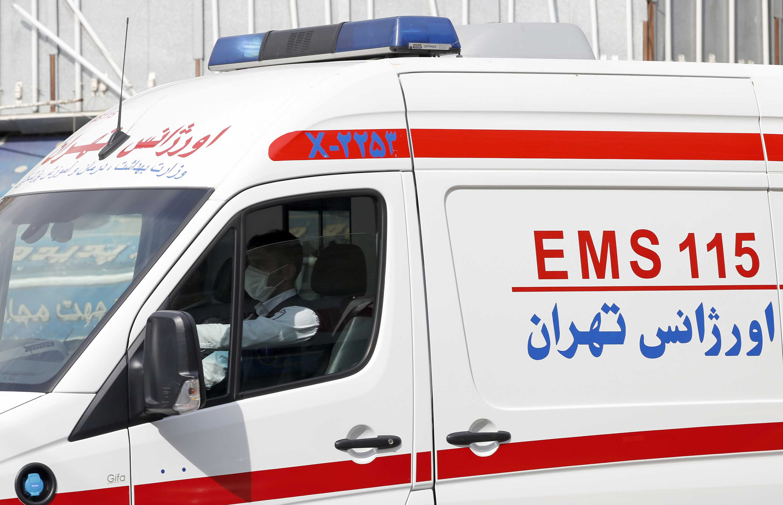 An ambulance drives on a street of Tehran, Iran on Monday.