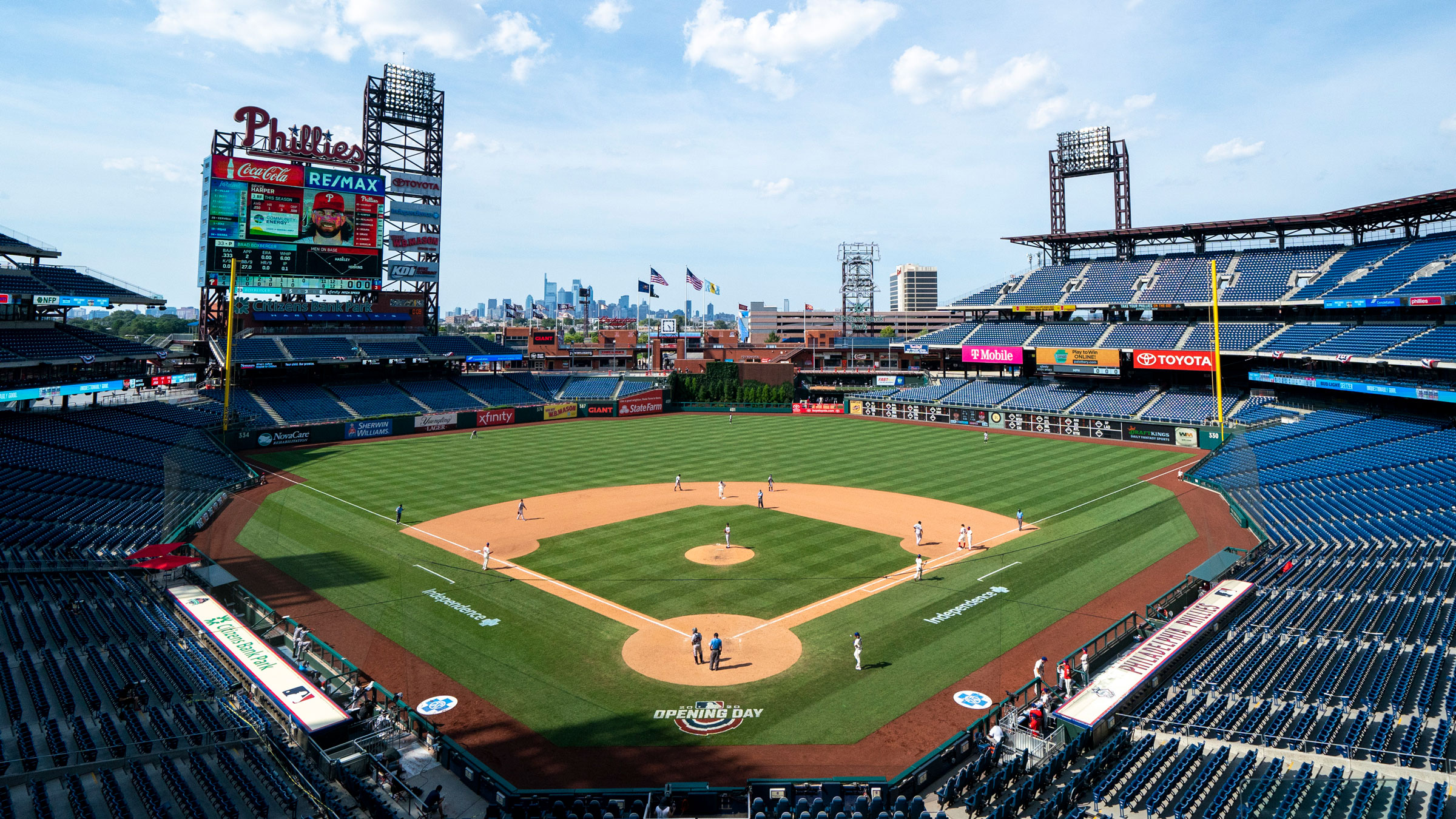 The Miami Marlins play the Philadelphia Phillies at Citizens Bank Park, the home of the Phillies, on Sunday.