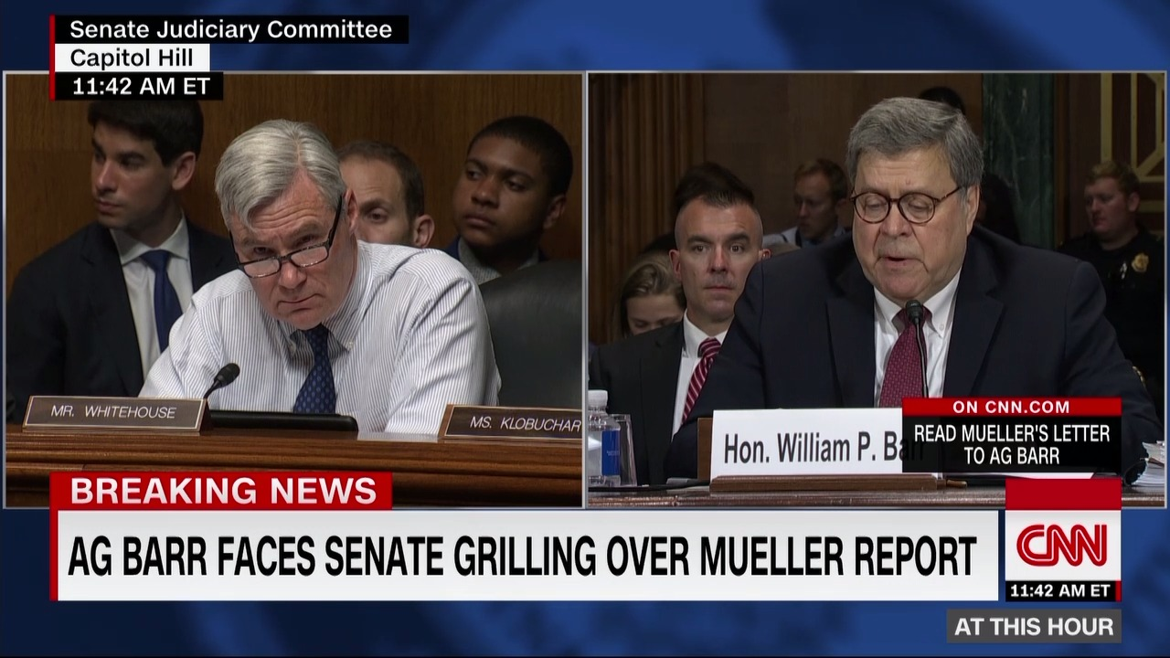 """Barr: The Report """"was My Baby"""" After Mueller Filed It"""