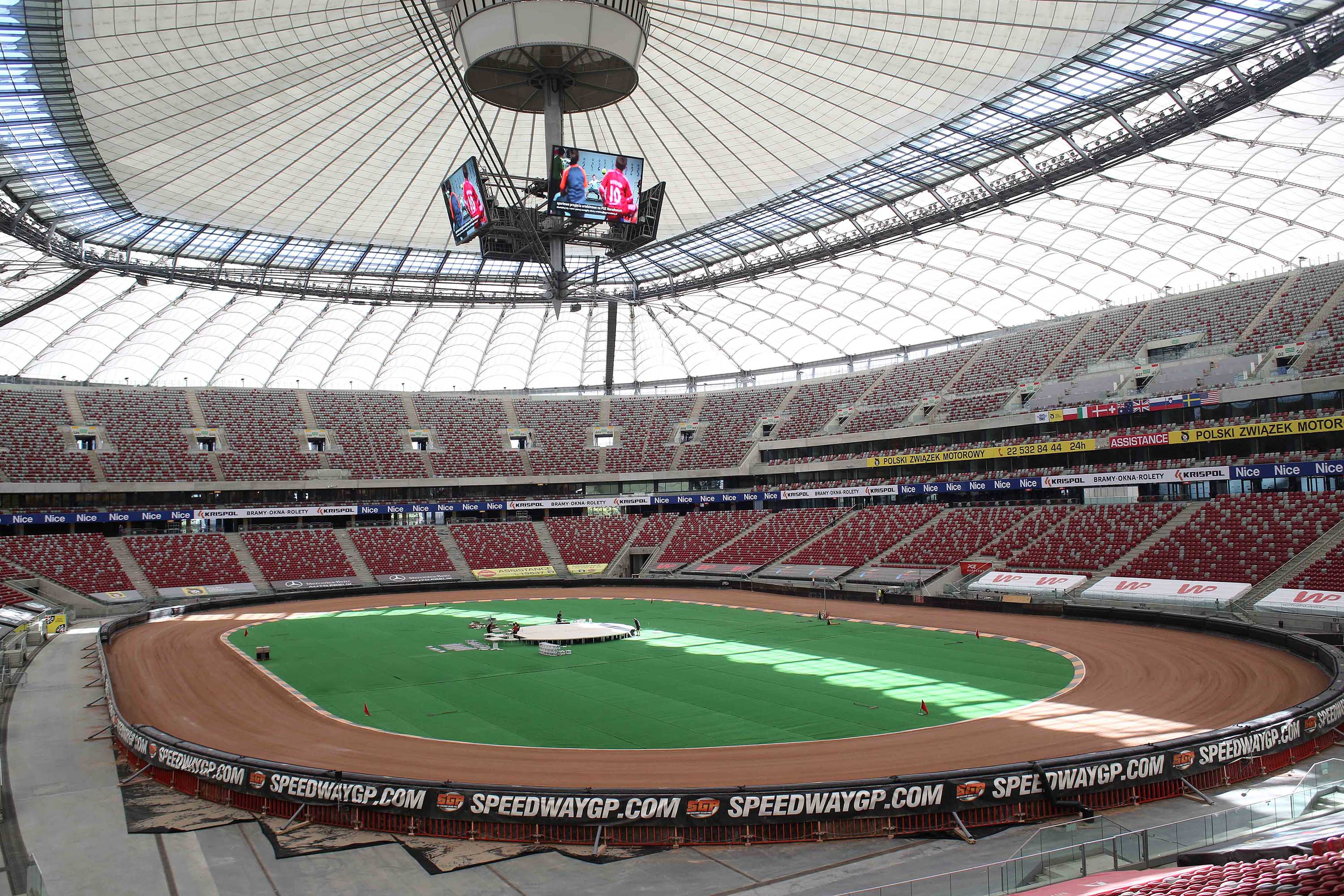 Warsaw's Narodowy stadium is pictured in May 2018.