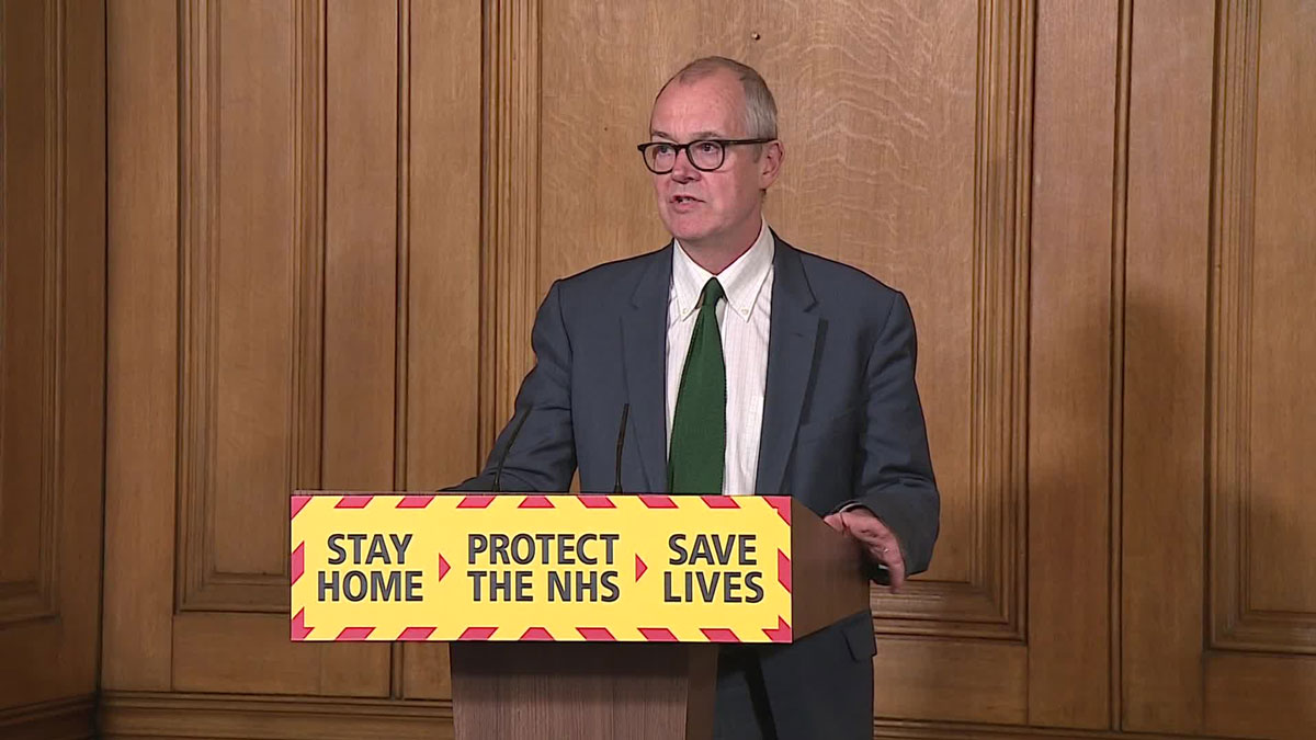 UK Chief Scientific Adviser Patrick Vallance during a press conference on October 22.