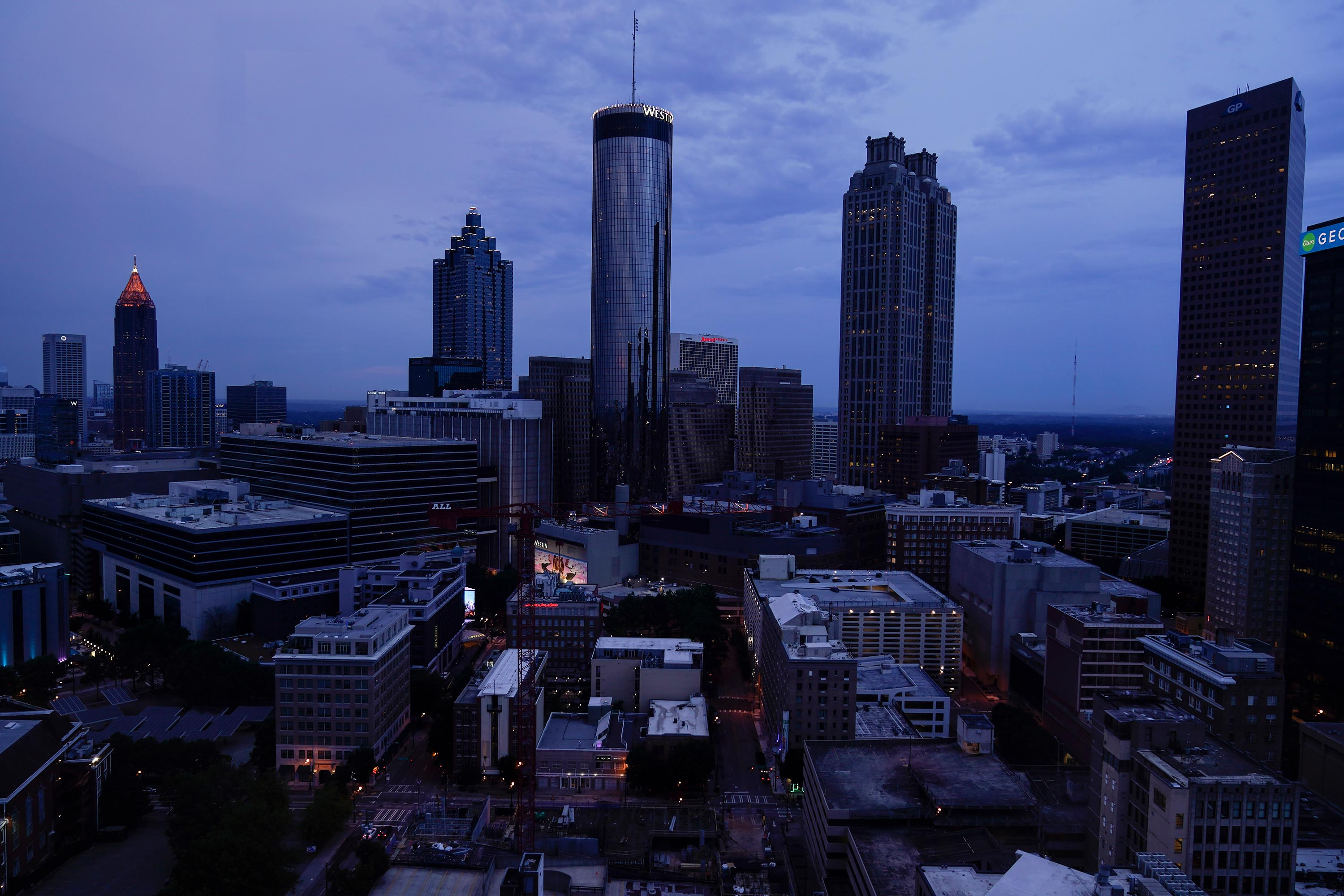Clouds roll into downtown Atlanta on Wednesday, August 11, 2021, in Atlanta.