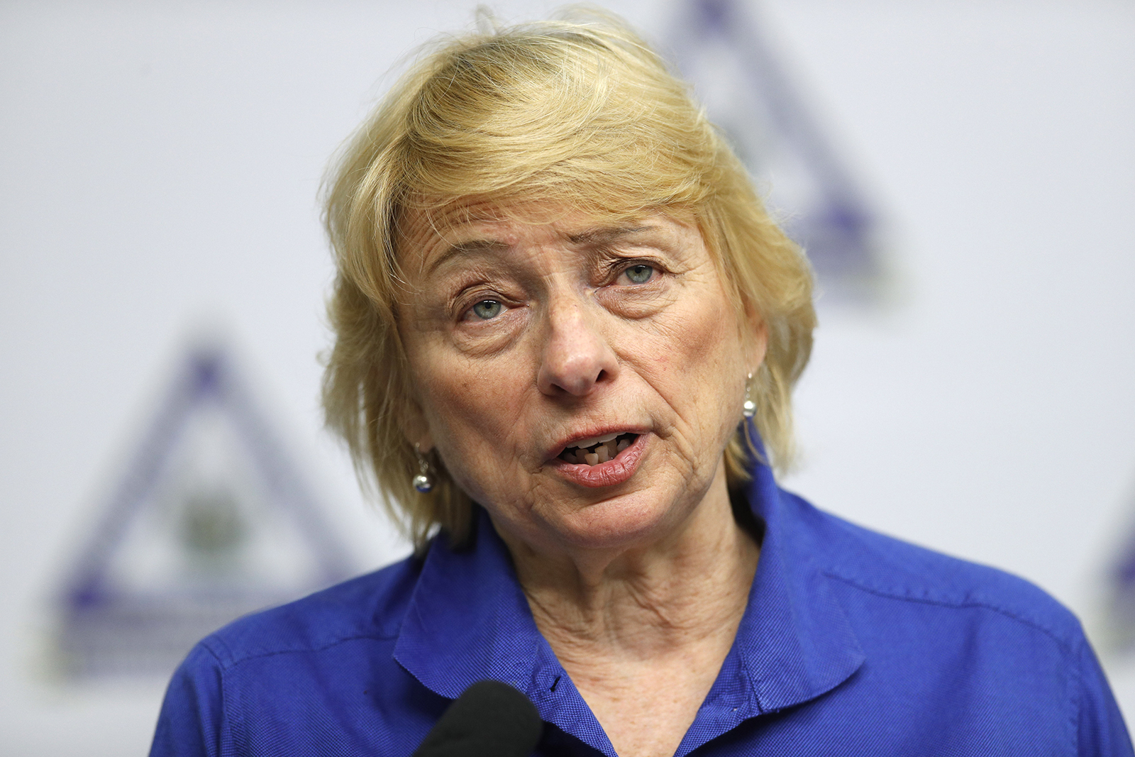 Maine Gov. Janet Mills speaks at a news conference where she announced new plans for the stay-at-home order and other measures to help combat the coronavirus pandemic, on Tuesday, April 28, in Augusta, Maine.
