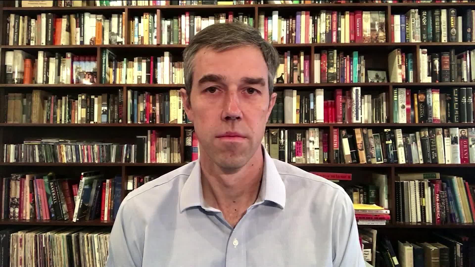 "Former presidential candidate Beto O'Rourke on CNN's ""Newsroom"" on October 14."