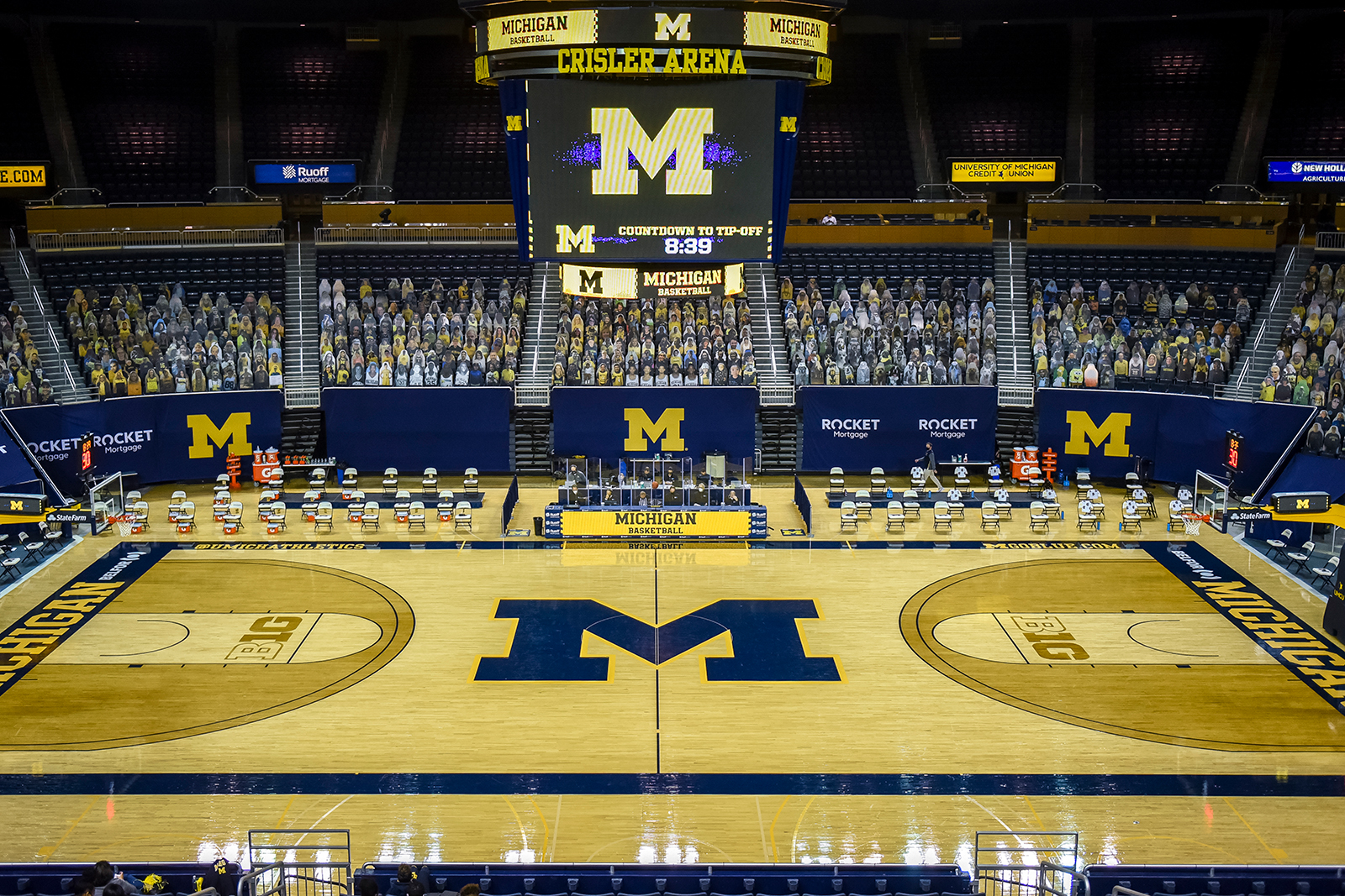 Crisler Arena is seen ahead of the game between the Minnesota Golden Gophers and Michigan Wolverines in Ann Arbor, Michigan, on January 06.