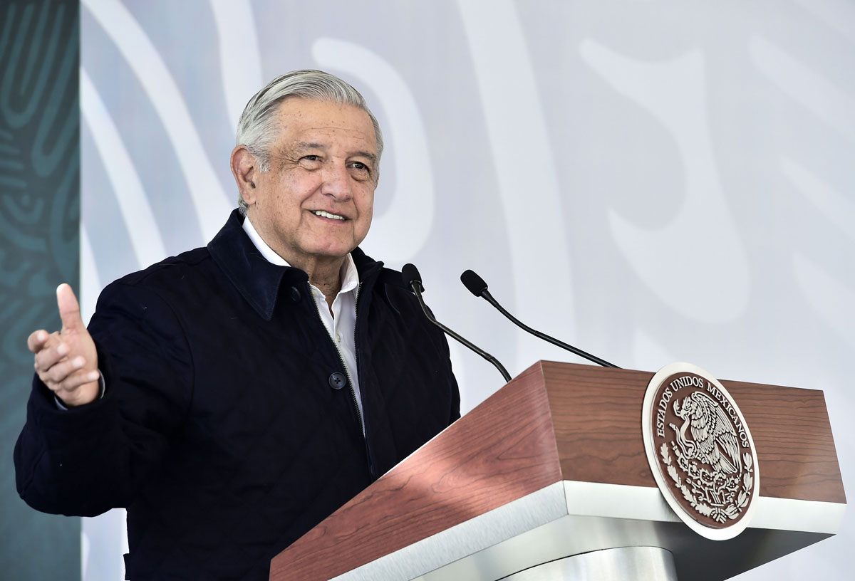 Mexico's President Andres Manuel Lopez Obrador speaks at the inauguration of National Guard's facilities in San Luis Potosi, Mexico on January 24.
