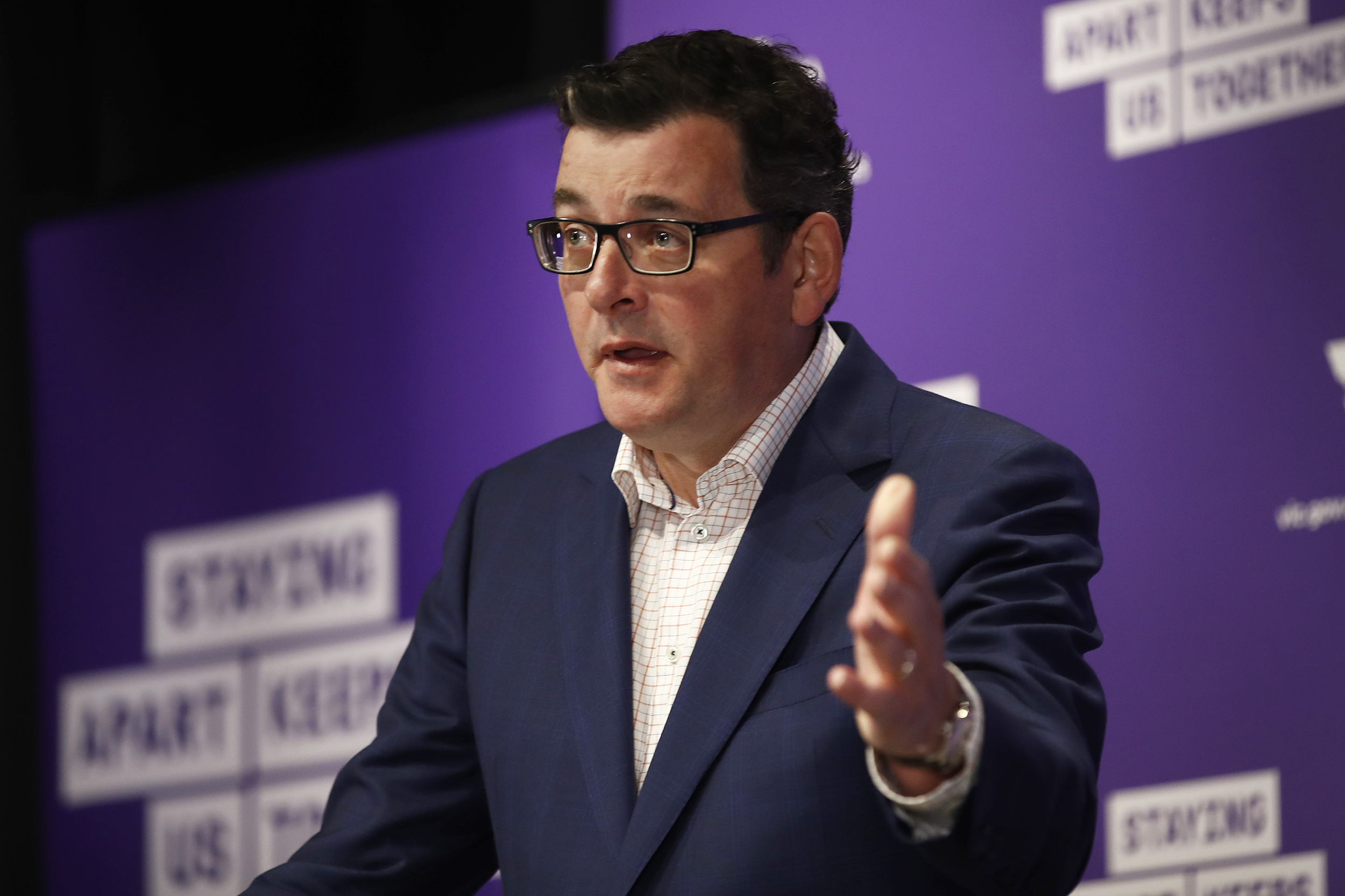 Victorian Premier Daniel Andrews speaks to the media during a news conference on September 6, in Melbourne, Australia.