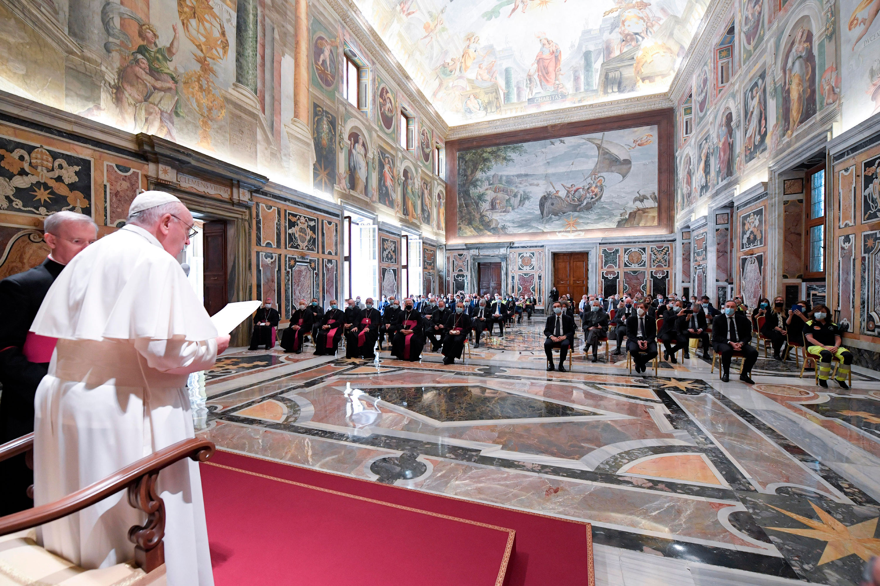 Pope Francis speaks at the Vatican on June 20.