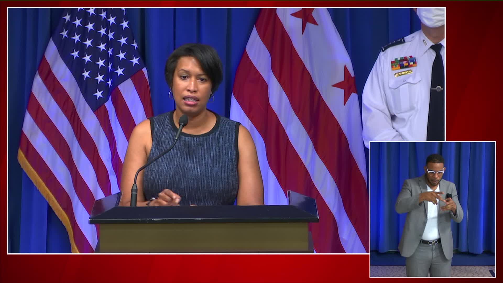 Mayor Muriel Bowser speaks at a news conference in Washington, on June 4.