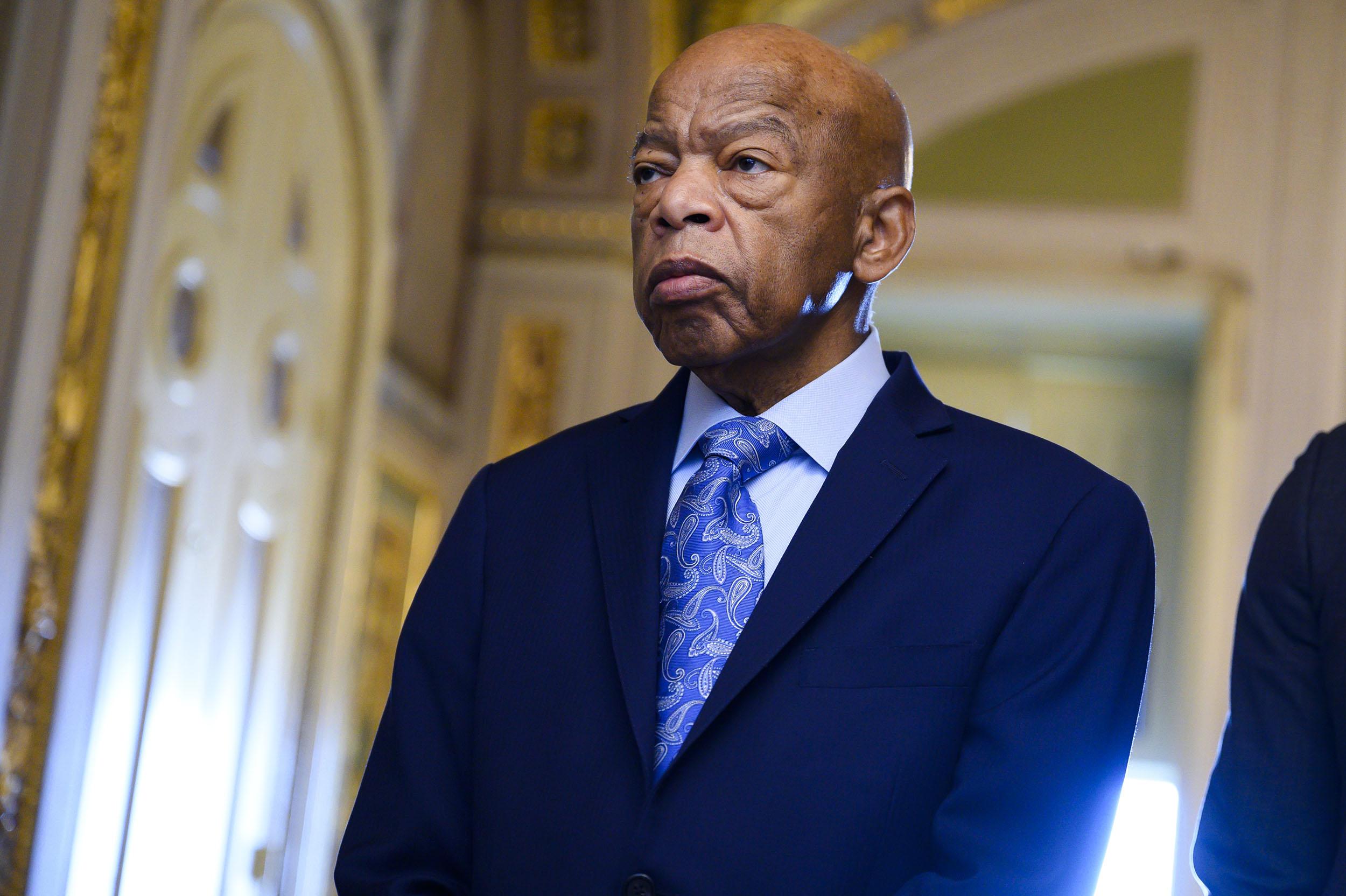 Rep. John Lewis, D-Ga., in the Capitol on December 3, 2019.