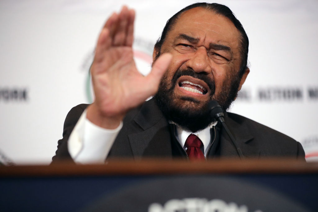 In this Nov. 13, 2018 file photo, Rep. Al Green (D-TX) speaks at the Russell Senate Office Building on Capitol Hill in Washington.