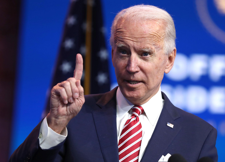 President-elect Joe Biden delivers remarks on November 16 in Wilmington, Delaware.