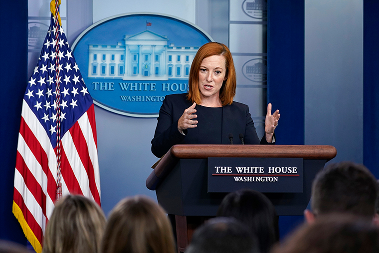 White House press secretary Jen Psaki speaks during the daily briefing at the White House in Washington, Tuesday, Aug. 17, 2021.