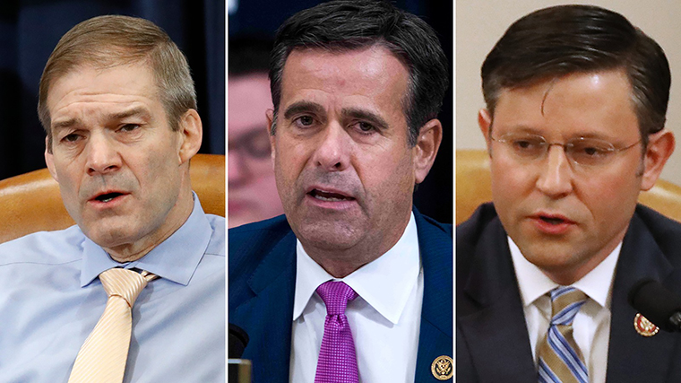 Reps. Jim Jordan, John Ratcliffe and Mike Johnson
