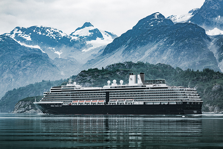 The Holland America Line Inc. Noordham cruise ship passes through the Tarr Inlet in Glacier Bay, Alaska, on Friday, July 12, 2019.