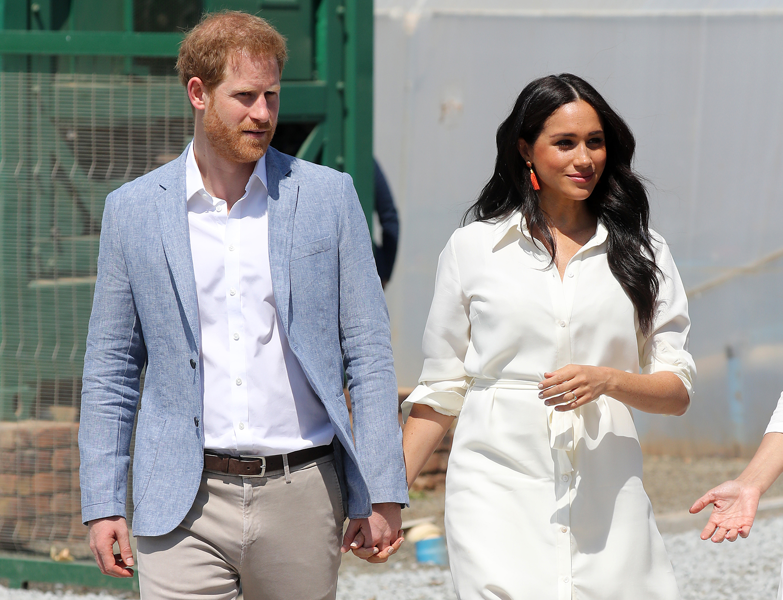 Prince Harry, Duke of Sussex and Meghan, Duchess of Sussex visit a township to learn about Youth Employment Services on October 2, 2019 in Johannesburg, South Africa.