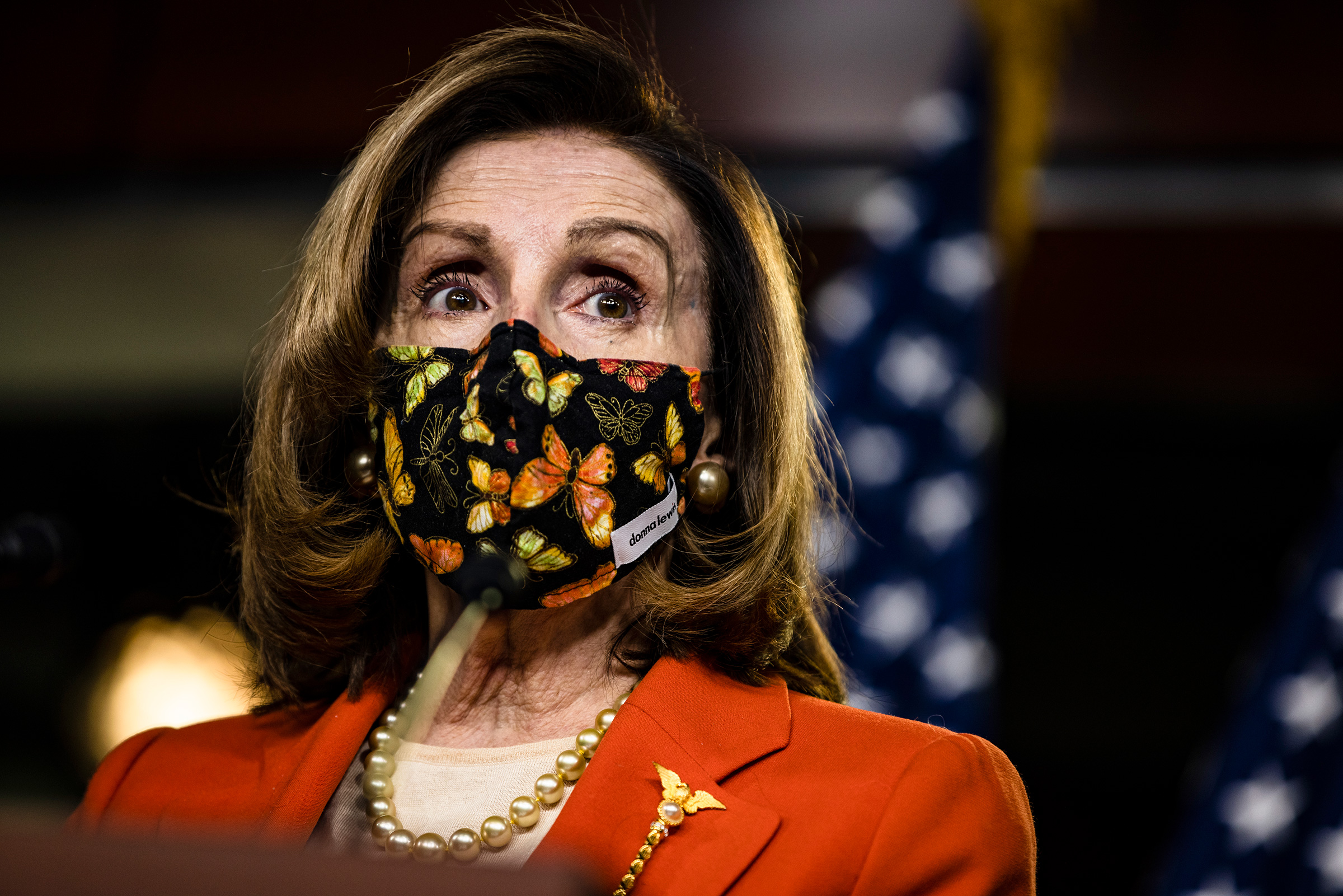 House Speaker Nancy Pelosi speaks during a press conference on January 15, in Washington, DC.