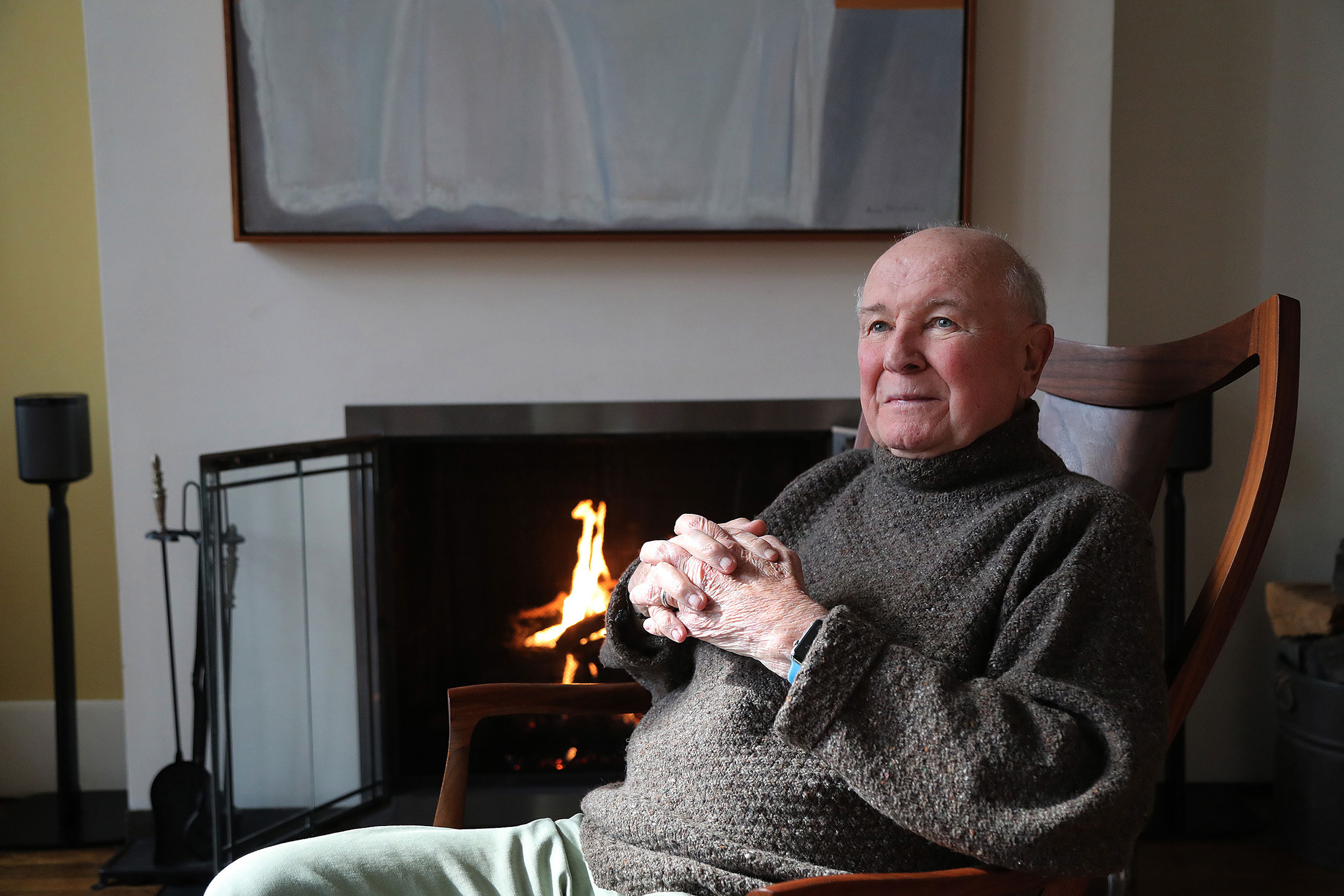 Playwright Terrence McNally at his New York City home on March 2.